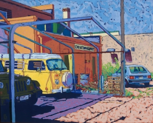 Chinatown Kitchen, oil on plywood, 30 x 24 in., Apr. 2015