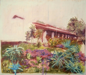 Mission Garden, oil on plywood, 30 x 24 inches, June 2015