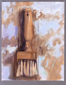 """Frank's Funky Brush,"" oil on canvas, 8x10, Feb 2015 by Ann Liebhard-Lange"