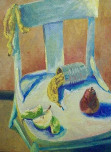 Chair with Bananas and Pears, oil on canvas, 2009